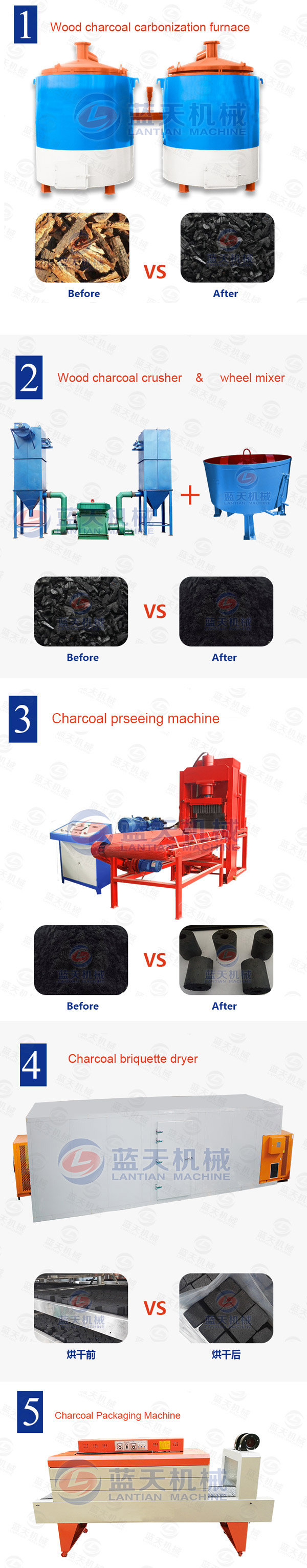 charcoal briquette pressing machine